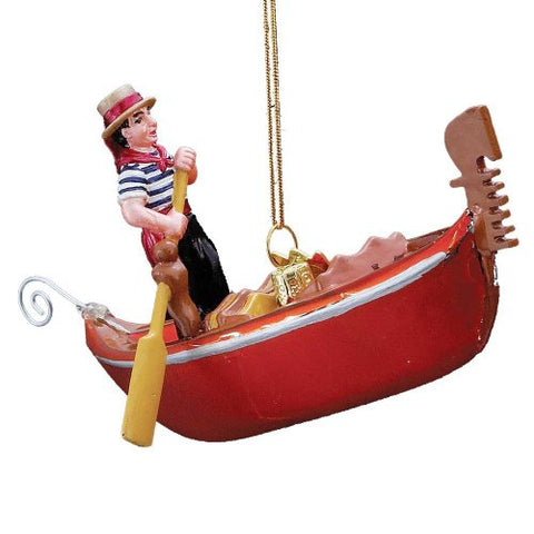 Kurt Adler 5-Inch Noble Gems Glass Gondola Ornament