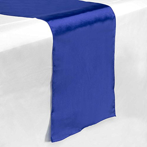 Lann'S Linens 12 X 108 Inch Satin Table Runner Wedding Banquet Party Decoration - - Royal Blue