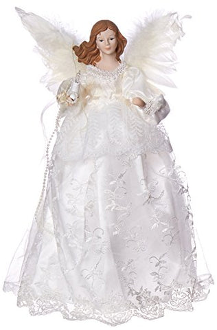 Kurt Adler Indoor 10 Light 14-1/2-Inch Ivory Angel Treetop
