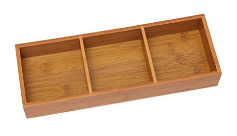 Lipper International (823) 3-Compartment Organizer Tray, Bamboo