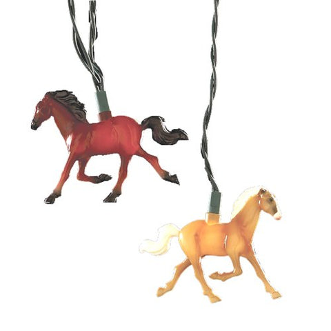 Kurt Adler 10-Light Running Horse Indoor/Outdoor Light Set