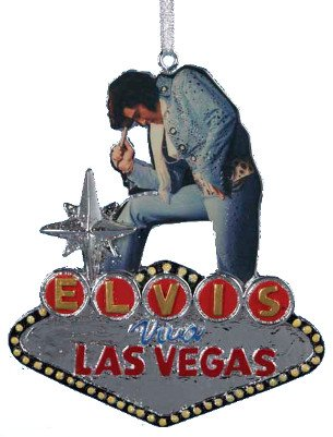 Kurt Adler 4.2 Elvis Viva Las Vegas Mar Ornament