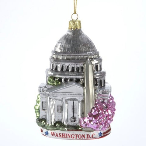 Kurt Adler C4110 Washington D.C. Glass Cityscape Ornament, 5-Inch