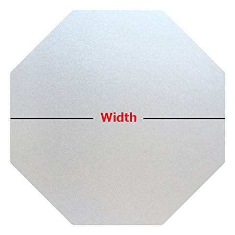 Precut Frosted Privacy Octagon Window Film, Self Static Adhesive Cling, 21 Inches Width
