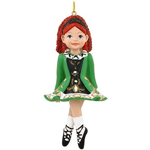 Irish Girl Dancer In Green Dress Christmas Ornament