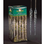 Kurt Adler 5-1/4-Inch Glass Icicle Ornament 36-Piece Box Set