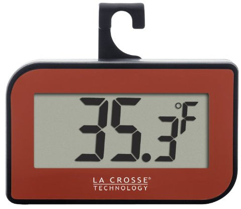 La Crosse Technology 314-152-R Digital Refrigerator-Freezer Thermometer With Hook