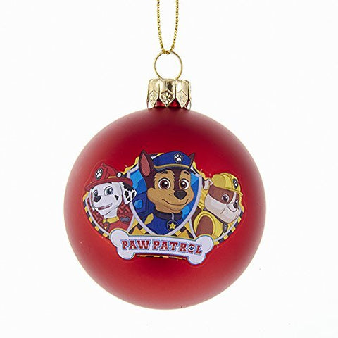 Kurt Adler 60Mm Paw Patrol Shatterproof Ball Ornament
