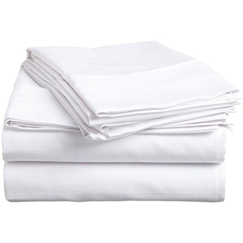 Organic Cotton Sheet Set - 600 Thread Count - 100% Cotton 4Pc Bed Sheet Set - (Full, White)
