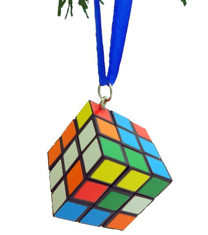 Christmas Ornaments Tree Buddees Colored Cube Puzzle (Blue)