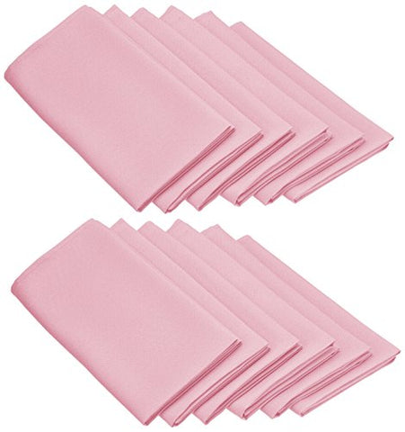 Linentablecloth 20-Inch Polyester Napkins (1-Dozen) Pink