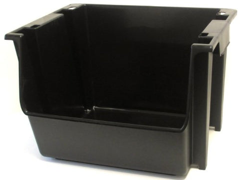 United Solutions Sb0041 Large Plastic Nesting/Stacking Storage Bin, Black