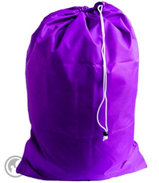 Extra Large Laundry Bag With Drawstring, Color: Purple, Size: 30X45