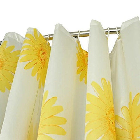 Fashionable Shower Curtains Waterproof Bath Curtain,65-Inch By 79-Inch Sunflower
