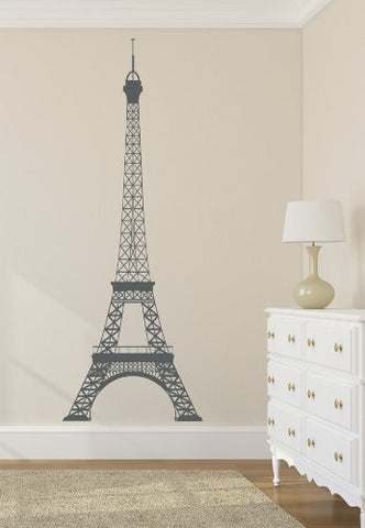 Eiffel Tower Decal Wall Decal Decor Vinyl Stickers Large 22'Wx60H'