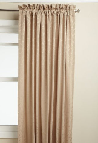 Lorraine Home Fashions Whitfield 52-Inch By 72-Inch Window Panel, Latte