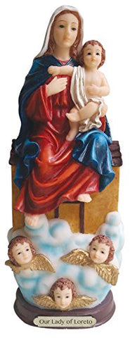 Our Lady Of Loreto Statue Lady Sitting On The House (8 Inch)