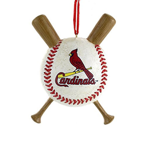 St Louis Cardinals Baseball And Crossed Bats Mlb Christmas Ornament
