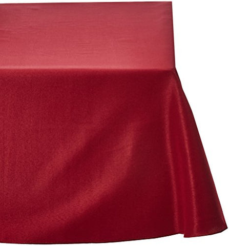 Linentablecloth 90 X 132-Inch Rectangular Polyester Tablecloth Burgundy