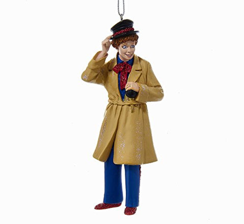 I Love Lucy Harpo Marx Trenchcoat Lucille Ball Resin Christmas Ornament New