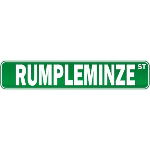 New  Rumpleminze Street  Drink / Drunk / Drunkard Street Sign Drinks