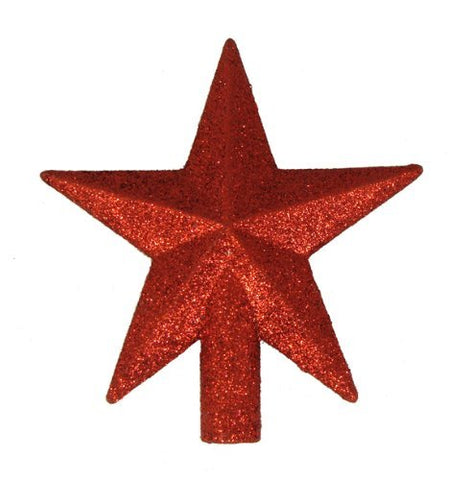 4 Petite Treasures Red Glittered Mini Star Christmas Tree Topper - Unlit