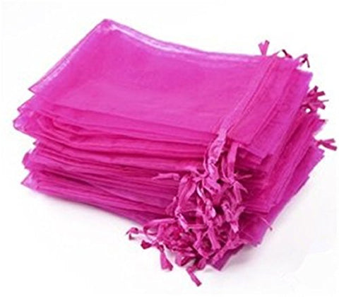 Kupoo Lot Of 50 7 X 9Drawstring Organza Pouch Strong Wedding Favor Gift Candy Bag (Rose)