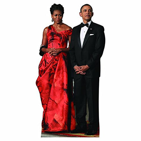 H25100 Michelle And Barack Obama Cardboard Cutout