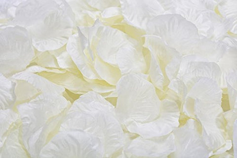 La Tartelette Silk Rose Petals Wedding Flower Decoration (1000 Pcs, Creamy White)