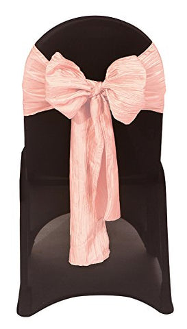 Your Chair Covers Crinkle Taffeta Chair Sashes  - Blush