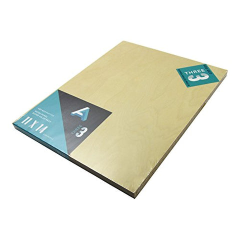 Aa Super Value Wood Panel 5Mm 11X14 Pk/3