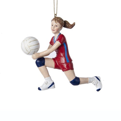 Girl Volleyball Player Hitting Ball Athlete Sports Christmas Ornament