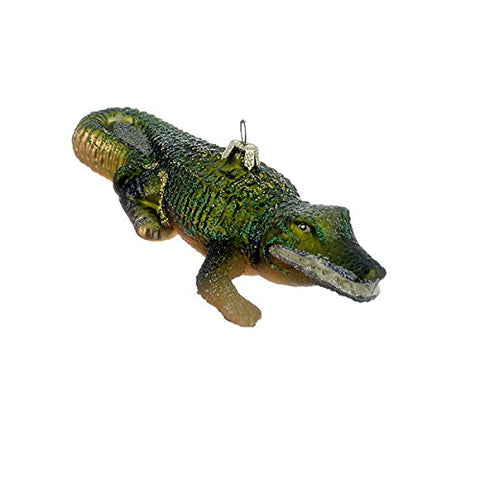 Kurt Adler 5-1/2-Inch Noble Gems Glass Alligator Ornament