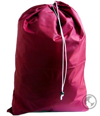 Extra Large Jumbo Laundry Bag With Drawstring, Color: Burgundy,Size: 30X45