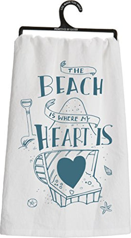 Primitives By Kathy Dish Towel, The Beach Is