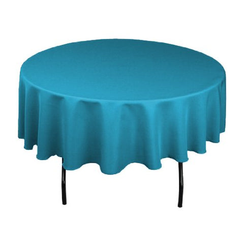 Linentablecloth 90-Inch Round Polyester Tablecloth Caribbean