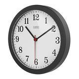 Lamiko 10 Silent Quartz Decorative Wall Clock Non-Ticking Digital Clock,Black