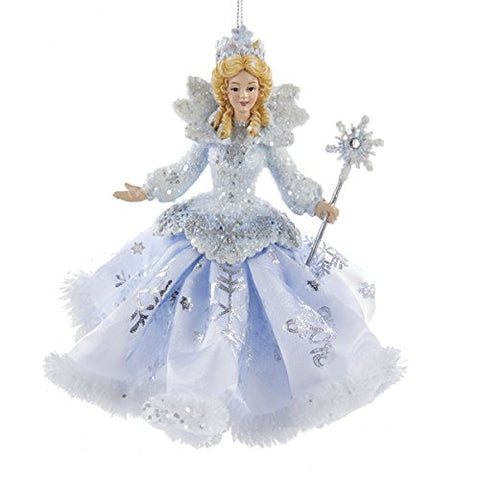 Kurt Adler Frosted Kingdom Snow Queen Fairy Ornament 6- C8903