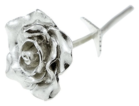 Tin Anniversary 10 Year Everlasting Rose - 100% Pure Casted Tin Great Anniversary Idea By Pirantin
