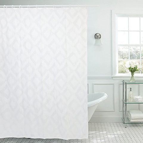 Premium Mildew Resistant Fabric Shower Curtain, Vdomus Luxury Anti-Bacterial Shower Curtain 71 X71 Inches