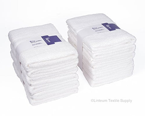 Linteum Textile 100% Cotton Hotel-Quality Hair Towels 20X40 In. White