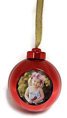 Memories Forever 15 Second Recordable Red Christmas Holiday Ornament