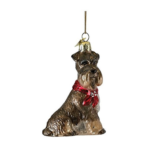 Schnauzer With Bow Ornament