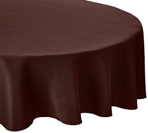 Linentablecloth 70-Inch Round Polyester Tablecloth Chocolate
