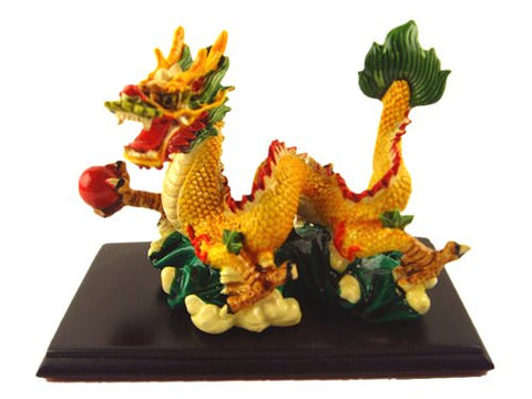 Feng Shui Chinese Dragon Statue Figurines For Prosperity (With A Betterdecor Logo Gift Bag)