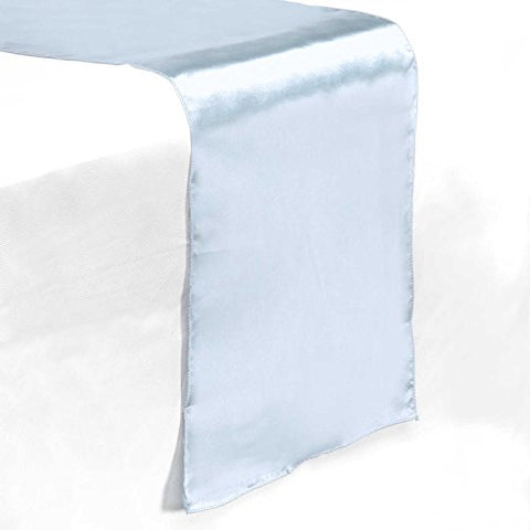 Lann'S Linens 12 X 108 Inch Satin Table Runner Wedding Banquet Party Decoration - - Baby Blue