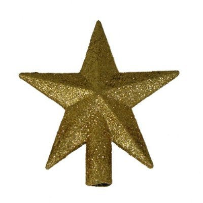 4 Petite Treasures Gold Glittered Mini Star Christmas Tree Topper - Unlit