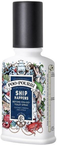 Poo-Pourri Before-You-Go Toilet Spray Bottle, 4 Oz., Ship Happens