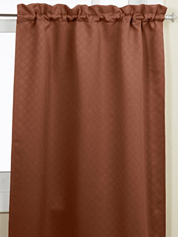 Lorraine Home Fashions Facets Room Darkening Blackout Tier Curtain Pair, 55 By 36-Inch, Chocolate
