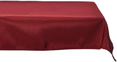 Linentablecloth 60 X 126-Inch Rectangular Polyester Tablecloth Burgundy